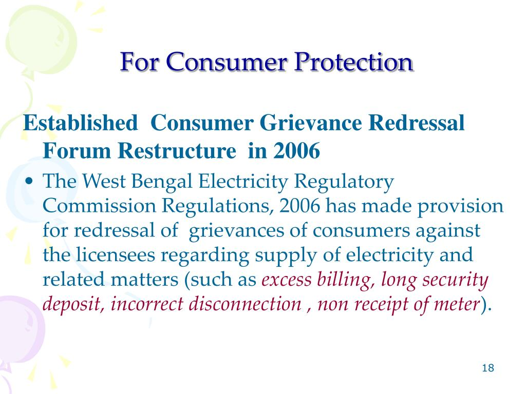 For Consumer Protection