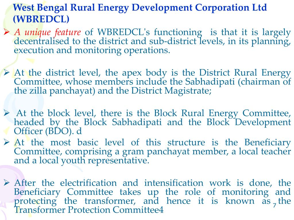 West Bengal Rural Energy Development Corporation Ltd (WBREDCL)
