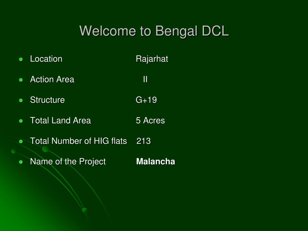 welcome to bengal dcl l.