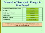 potential of renewable energy in west bengal