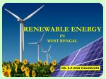 renewable energy in west bengal