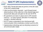 nas ft upc implementation