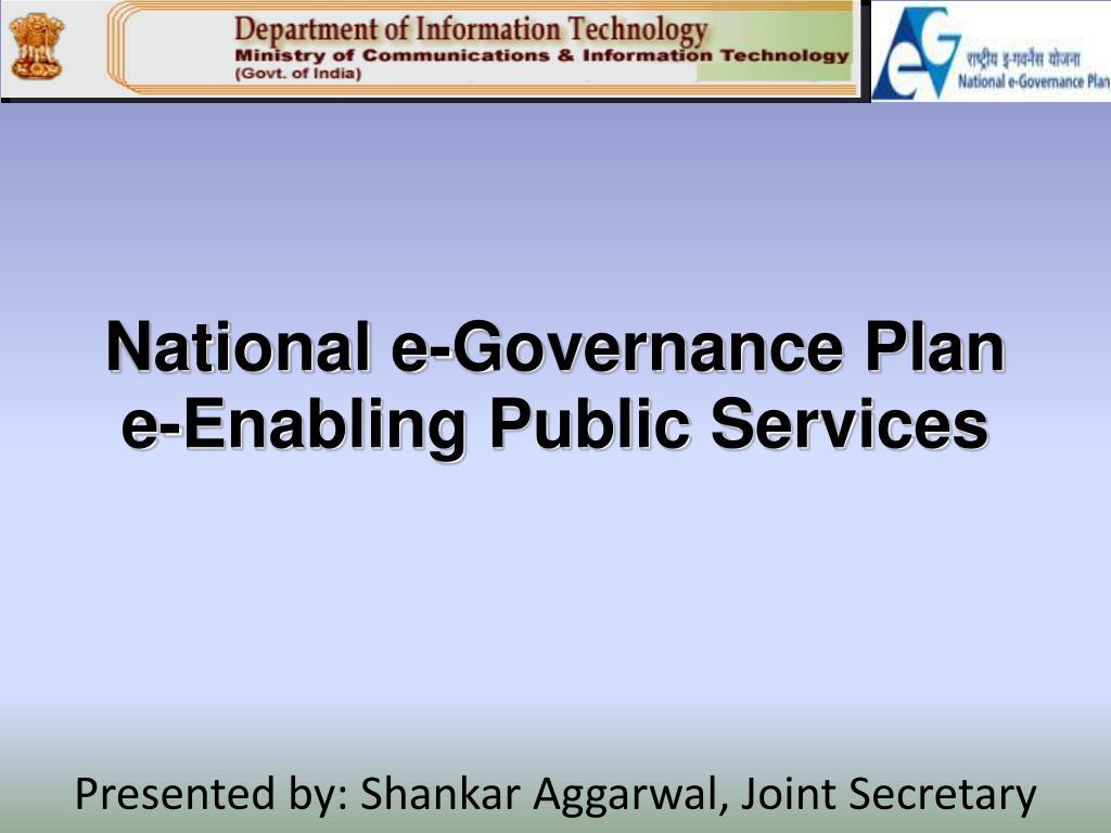 national e governance plan e enabling public services l.
