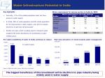 water infrastructure potential in india