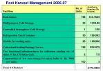 post harvest management 2006 07