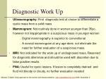 diagnostic work up46