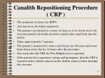 canalith repositioning procedure crp