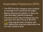 expandable polystyrene eps