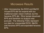 microwave results