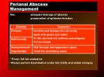 perianal abscess management