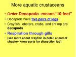 more aquatic crustaceans