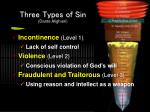 three types of sin dante alighieri