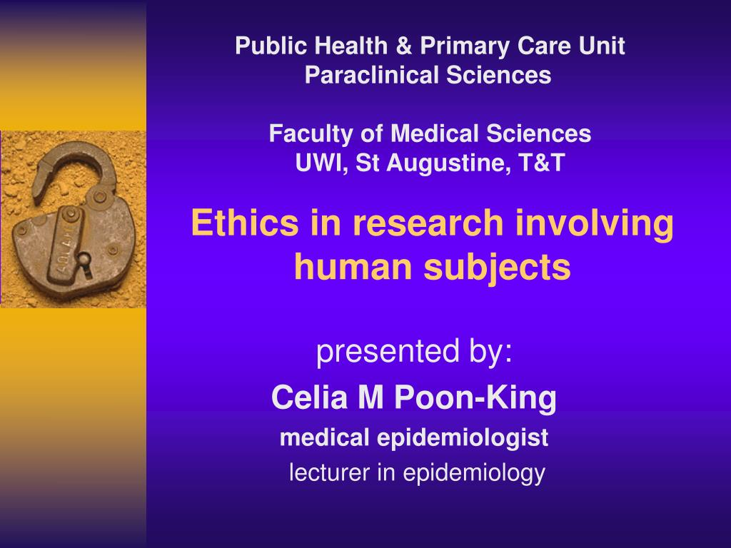 ethics in research involving human subjects l.
