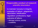 responsible conduct of research scientific misconduct