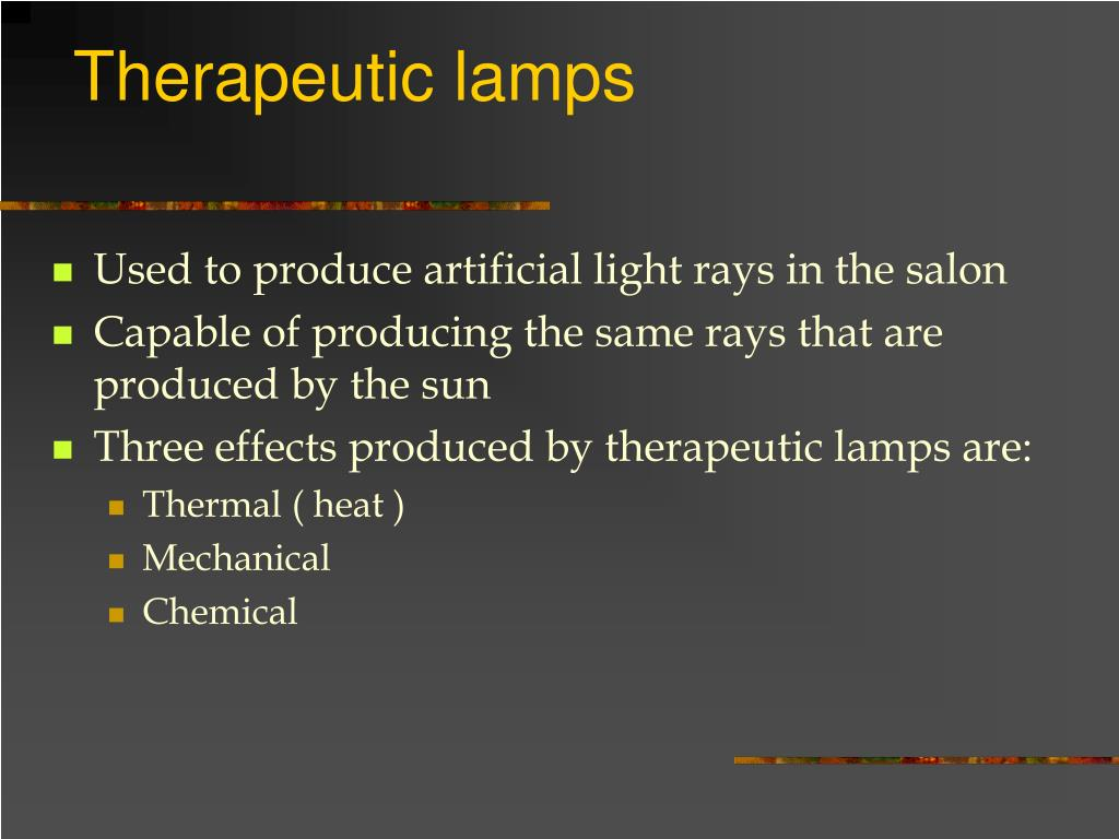 Therapeutic lamps