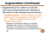 augmentation continued