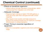 chemical control continued