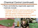 chemical control continued7