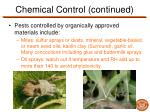 chemical control continued8