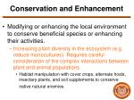 conservation and enhancement