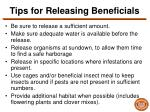 tips for releasing beneficials