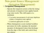 non point source management irrigation management