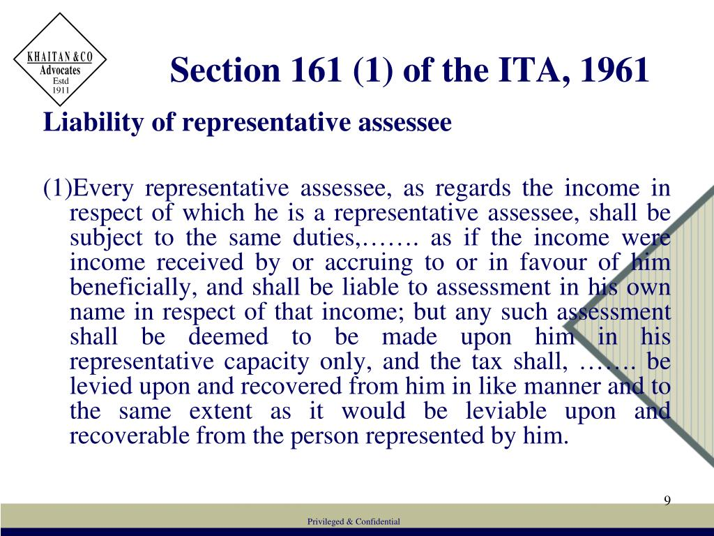 Section 161 (1) of the ITA, 1961