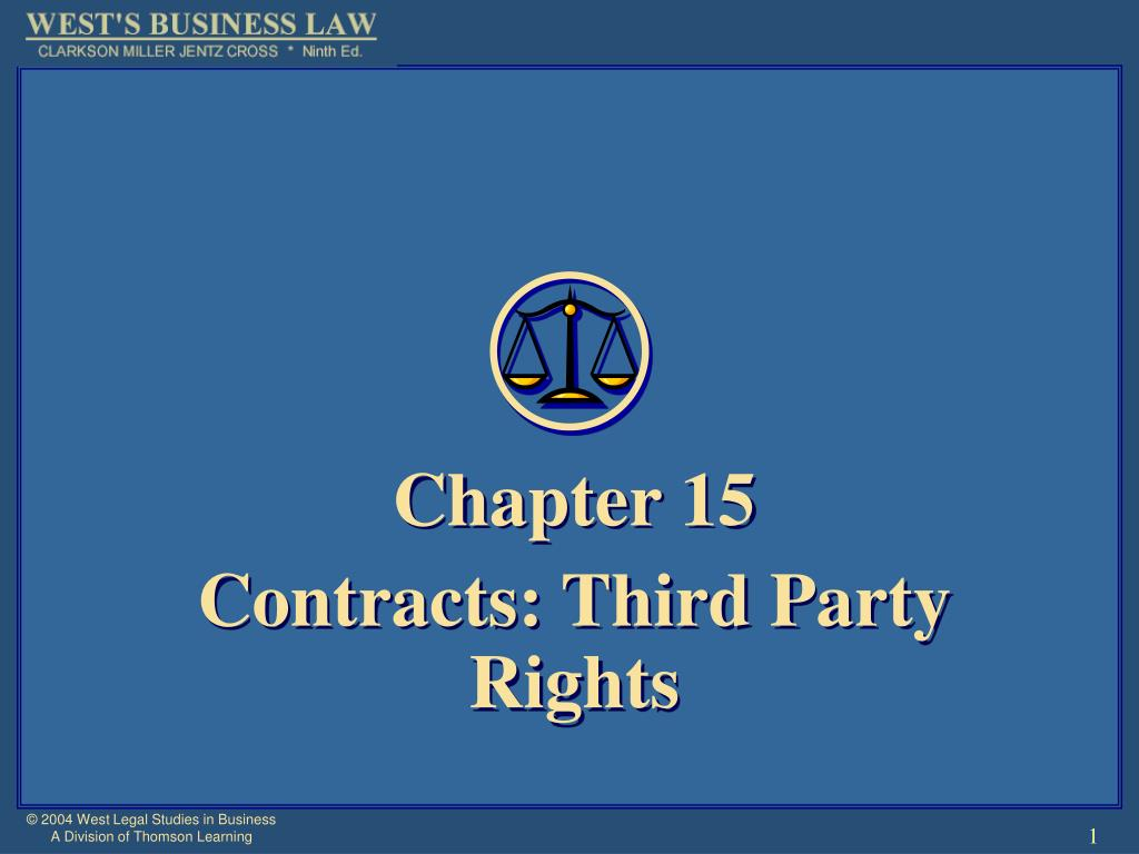 chapter 15 contracts third party rights l.