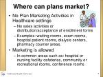 where can plans market
