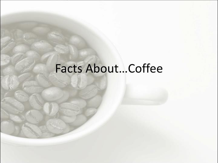 facts about coffee n.