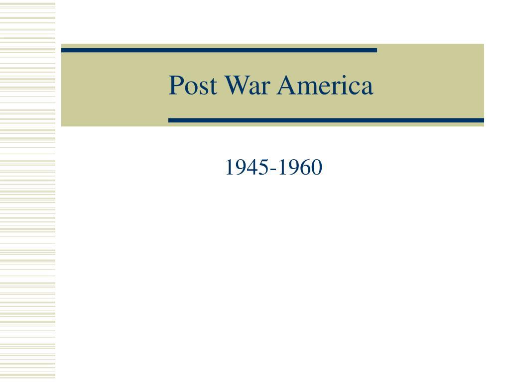 post war america l.