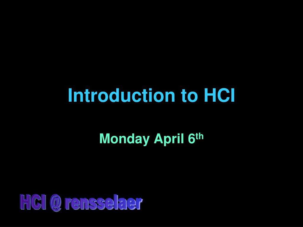 introduction to hci l.