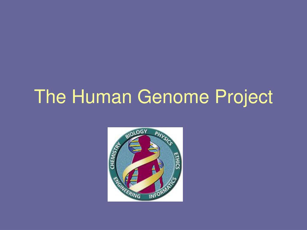 the human genome project l.