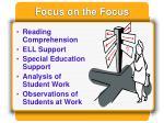 focus on the focus