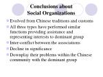 conclusions about social organizations