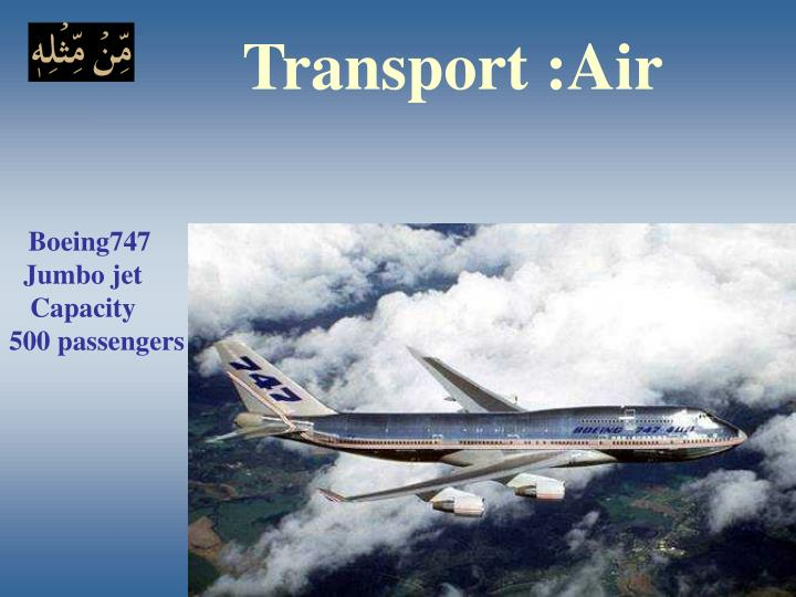 Transport :Air