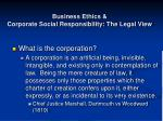 business ethics corporate social responsibility the legal view11