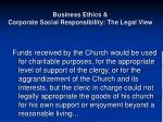 business ethics corporate social responsibility the legal view7