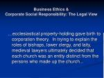 business ethics corporate social responsibility the legal view8