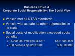 business ethics corporate social responsibility the social view61