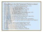everything in the old testament points to jesus