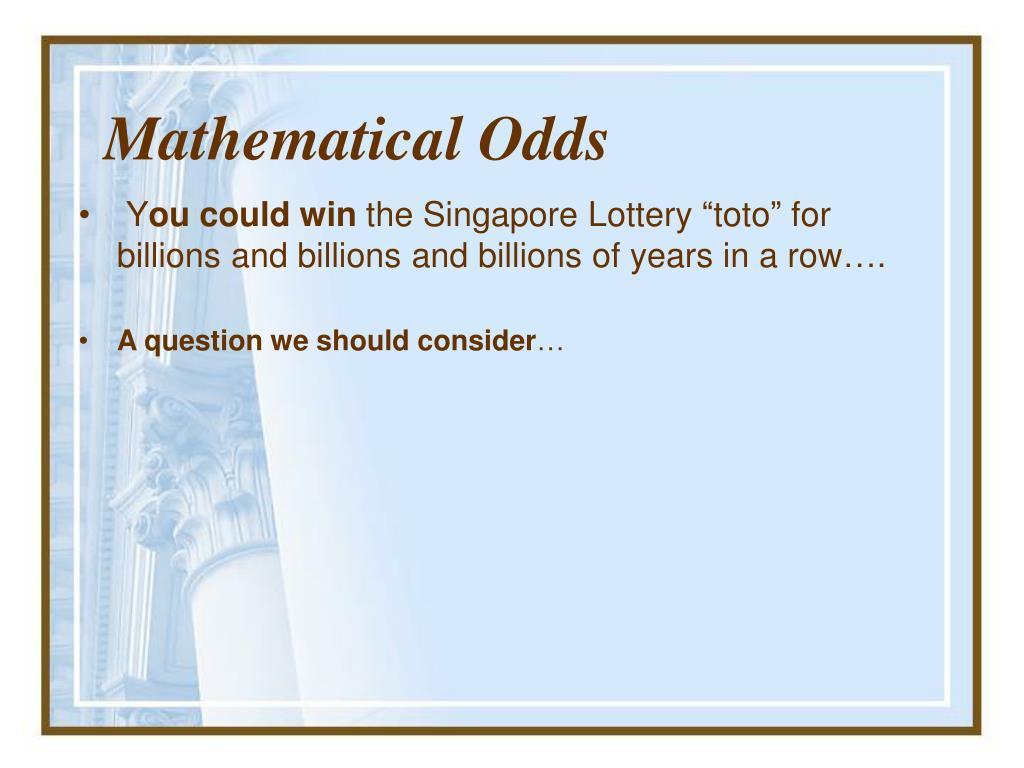 Mathematical Odds