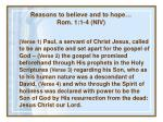 reasons to believe and to hope rom 1 1 4 niv