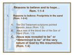 reasons to believe and to hope rom 1 1 434