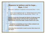 reasons to believe and to hope rom 1 1 435