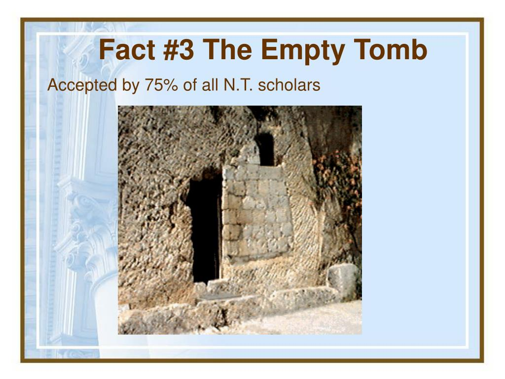 Fact #3 The Empty Tomb