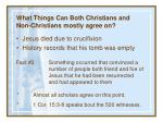 what things can both christians and non christians mostly agree on