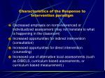 characteristics of the response to intervention paradigm