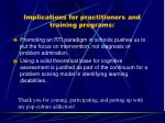 implications for practitioners and training programs