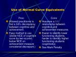 use of normal curve equivalents